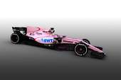Pretty in pink - Force India støtter brysterne