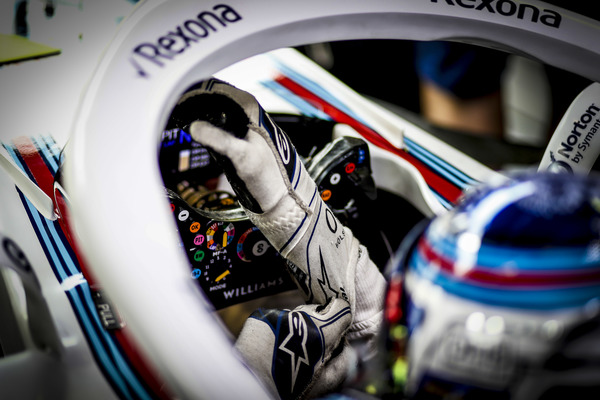 Italiens Grand Prix 2018. Sergey Sirotkin i Williams FW41 med Rexona på Halo