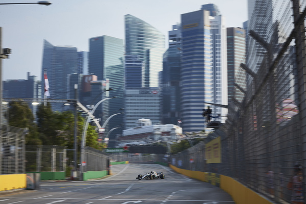 Singapores Grand Prix 2018. Mercedes på Singapore Street Circuit