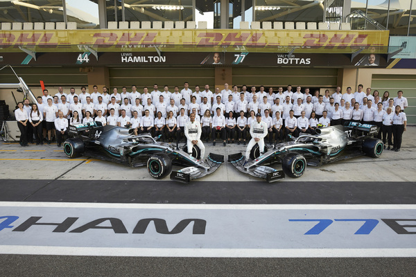 Abu Dhabis Grand Prix 2019. Mercedes team foto