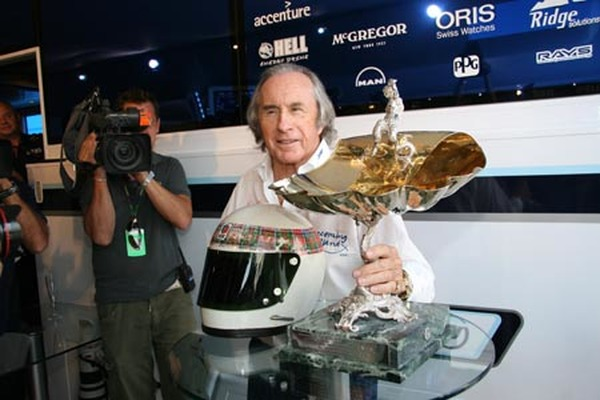 Jackie Stewart hyldes hos Williams på 40-årsdagens for Jackies sejr på Monza i 1969