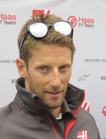 Romain Grosjean interviewes på Red Bull Ring