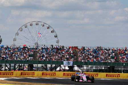 Englands Grand Prix 2018. Force india på Silverstone banen